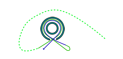 Diagram showing choices to circle the Pen before entering