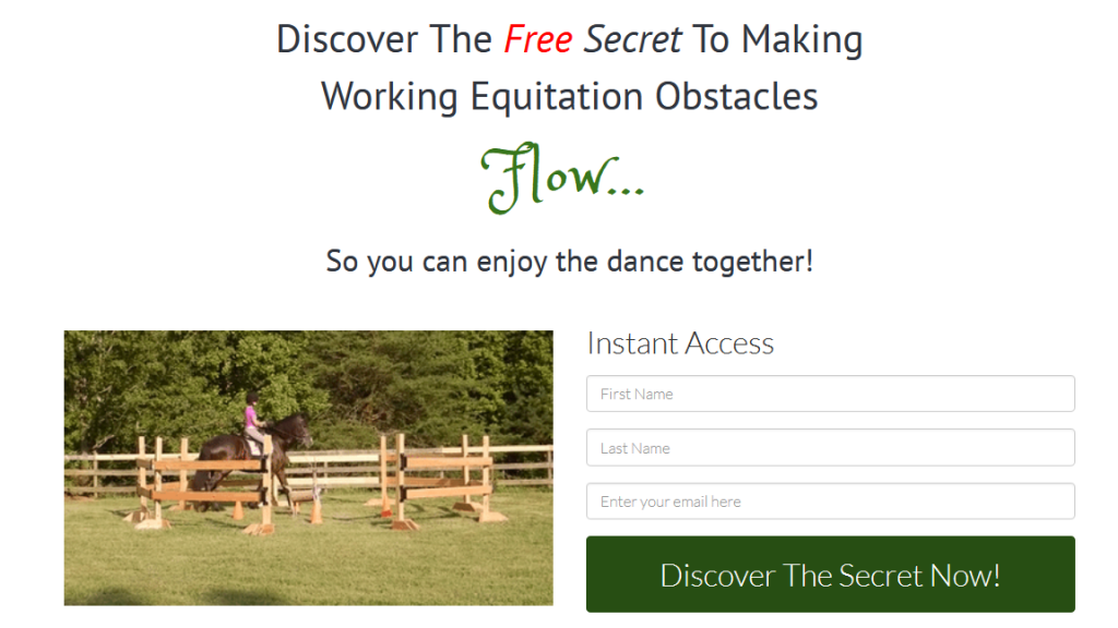 Sign up form to learn how to Flow through the obstacles