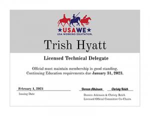Technical Delegate Certificate