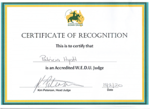 WEDU Judges Certificate